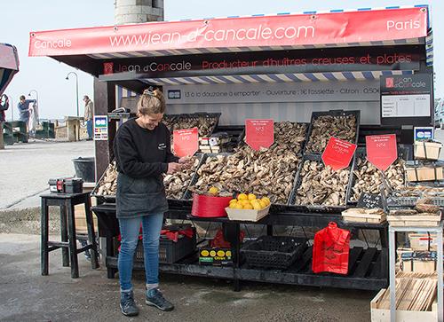 Le Marché aux huîtres Cancale